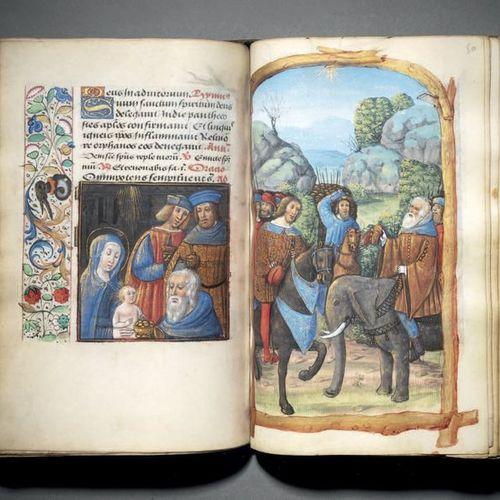 «HEURES DE G ET H» Livre d'heures à l'usage de Rome (Heures de la Vierge et Offi…
