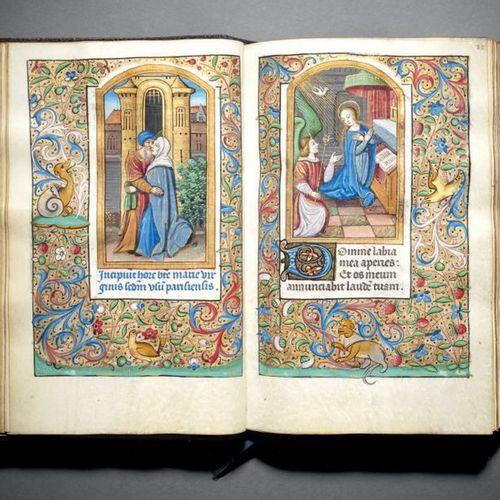 Livre d'heures à l'usage de Paris France, Paris, vers 1500 En latin et en frança…