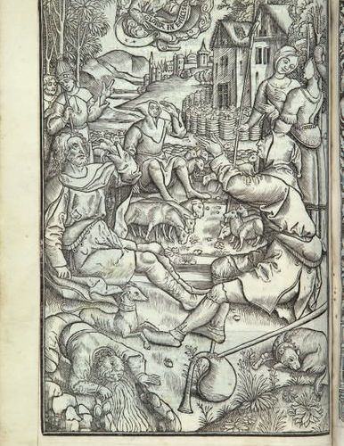 HOURS USING ANGELS. Paris, Simon Vostre, n.D. [circa 1510]. In 4, fawn calf, bla…