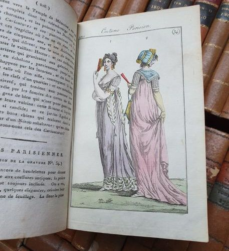 FASHION. JOURNAL DES DAMES ET DES MODES. S.L.N., 1798 1811. 54 volumes in 8, ora…