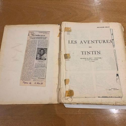 "HERGE. The adventures of TINTIN reporter of the ""Petit Vingtième"" in the Land of…"