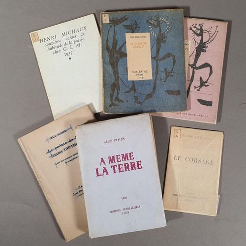 SURREALISM: BOOK LOT: Henri MICHAUX. Twelfth notebook of the habit of poetry. G.…