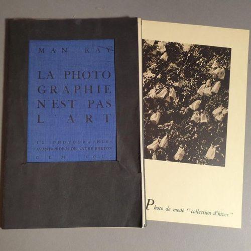 MAN RAY. PHOTOGRAPHY IS NOT ART. Paris, G.L.M., 1937. In 8 en feuilles, jaquette…