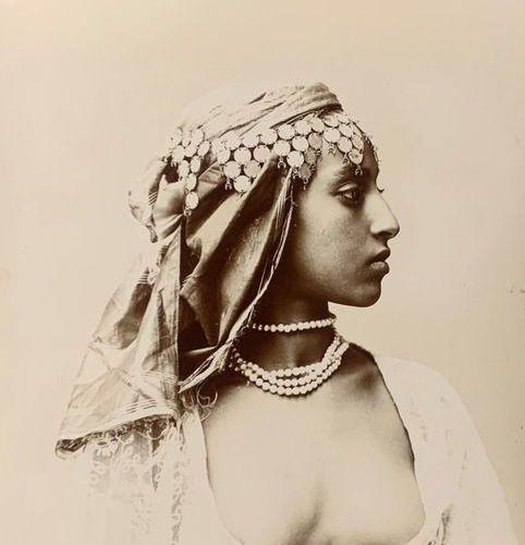 Marius MAURE Ouled Nail Fatma Algeria, ca. 1890 Original photograph Period silve…