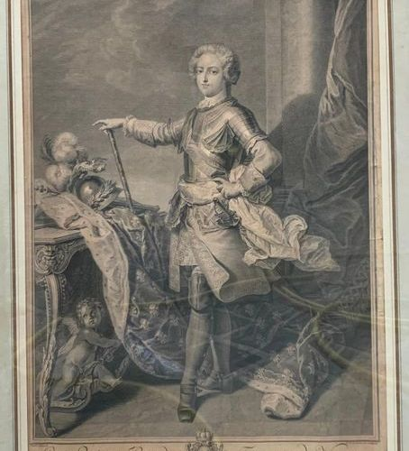 D'après Van LOO par LARMESSIN Louis XV King of France and Navarre Engraving As i…