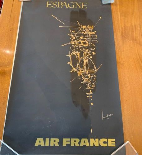 Georges Mathieu (1921 2012) pour Air France Set of 6 posters including: Mexico J…