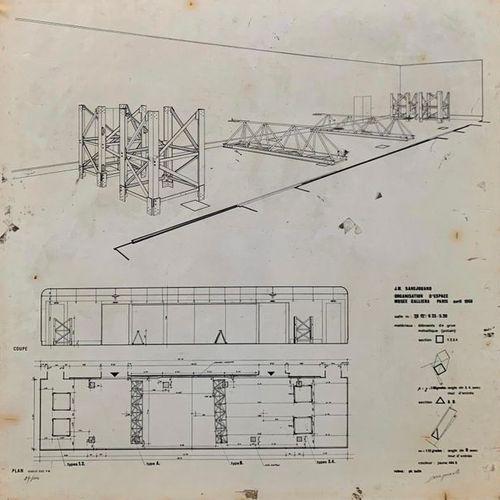 Jean Michel SANEJOUAND (1934) Organisation d'espace Musée Galliera Paris 1968 Si…