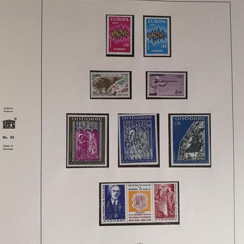 ANDORRA Issues 1931/2010: Beautiful collection of mint stamps including Series N…