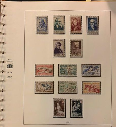 FRANCE Issues 1940/2012: Nice collection of mint stamps mainly without hinge, co…