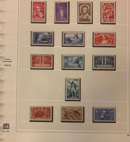 FRANCE Issues 1900/1939: Beautiful collection composed of mint stamps (except N°…