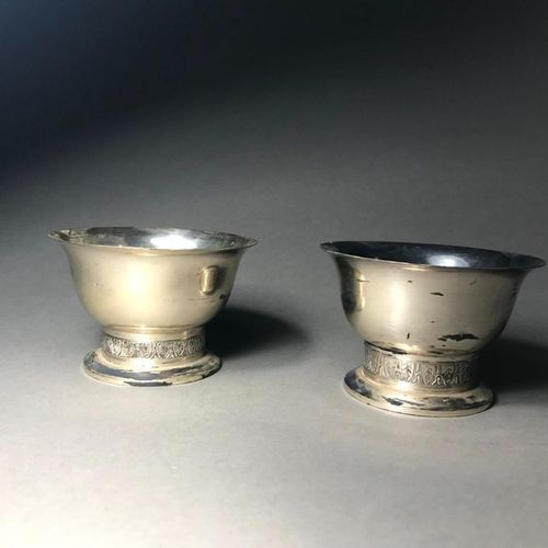 Léon MAEGHT  Set of 2 cups in 925° sterling silver  P. 160 g