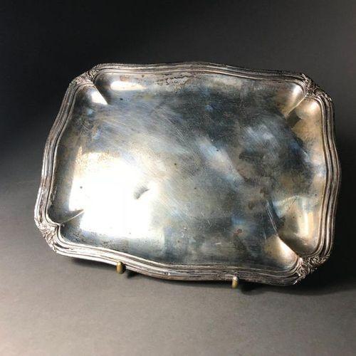 Eugène LEFBVRE Small silver tray Contour moulded  285.87g