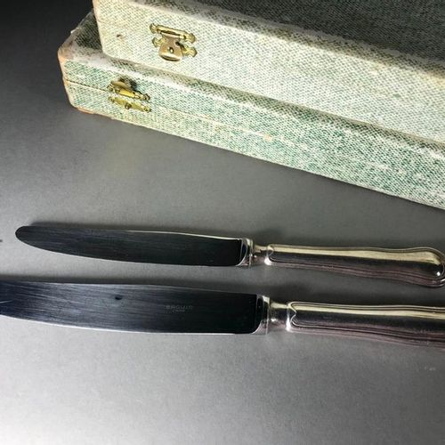 Ercuis  Set of 12 large and 11 small knives  In their boxes