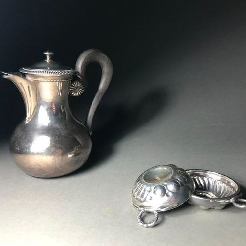 Marc PARROD  Set of two small wine tasters in silver 925°.  P. 43g  We join a sm…