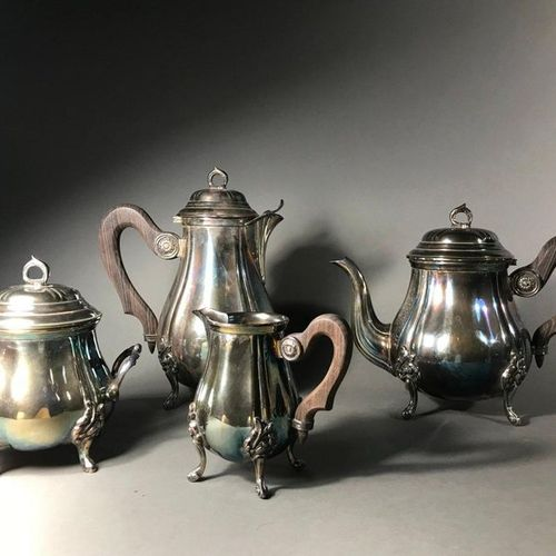 Tea and coffee service  Including coffee pot, teapot, sugar bowl and milk jug In…