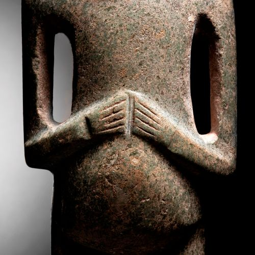 IMPORTANT STANDING FIGURE CHONTAL CULTURE, STATE OF GUERRERO, MEXICO RECENT PREC…
