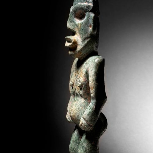 STANDING FEMALE FIGURE CHONTAL CULTURE, STATE OF GUERRERO, RECENT PRECLASSIC MEX…