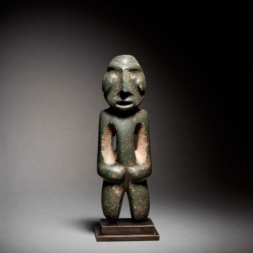 FIGURE STANDING AT STAINLESS ARM MEZCALA CULTURE, STATE OF GUERRERO, MEXICO RECE…