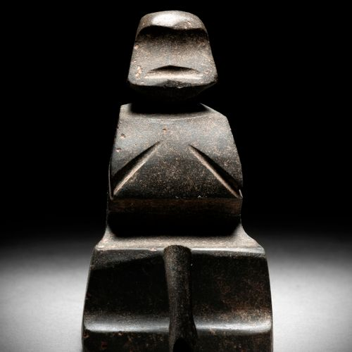 SEAT FIGURINE MEZCALA CULTURE, STATE OF GUERRERO, MEXICO RECENT PRECLASSICAL, 30…