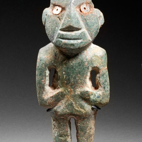 FIGURE STANDING AT STAINLESS ARM CHONTAL CULTURE, STATE OF GUERRERO, MEXICO RECE…