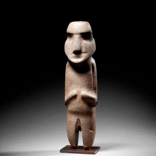 LARGE STANDING FIGURE MEZCALA CULTURE, STATE OF GUERRERO, RECENT PRECLASSIC MEXI…