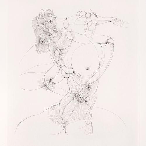 BELLMER Hans. UNCESTED. ORIGINAL SIGNED ETCHING. Paris, Galerie André François P…
