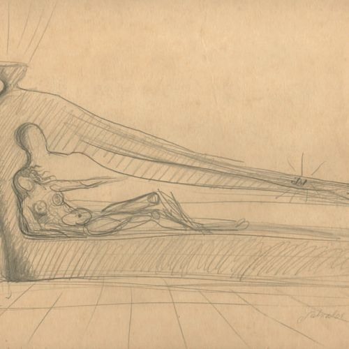 DALI Salvador. STUDY FOR SINGULARITAS. ORIGINAL DRAWING IN PENCIL ON BOTH SIDES …