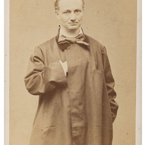 [BAUDELAIRE Charles]. CARJAT Etienne. PORTRAIT OF CHARLES BAUDELAIRE. ORIGINAL P…
