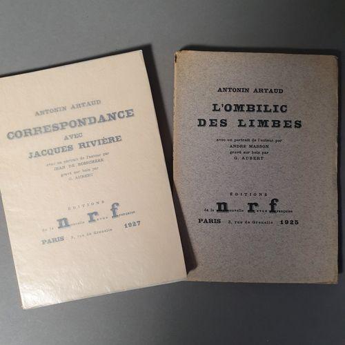 ARTAUD Antonin. THE UMBILICUS OF LIMBO. Paris, NRF, 1925. In 12, paperback. Orig…