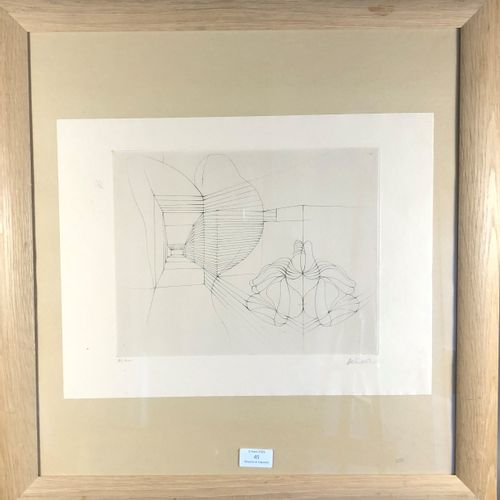 BELLMER Hans. PRENATAL SUBTERRANEAN. ORIGINAL SIGNED ETCHING. Paris, Éditions Vi…