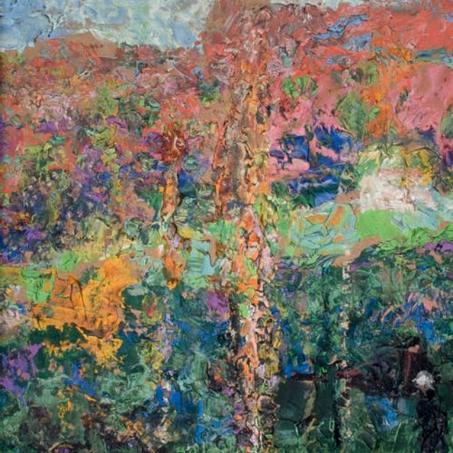 Victor CHARRETON, 1864 1936 Poplars in Autumn Oil on board Unsigned 26.5 x 20.5 …
