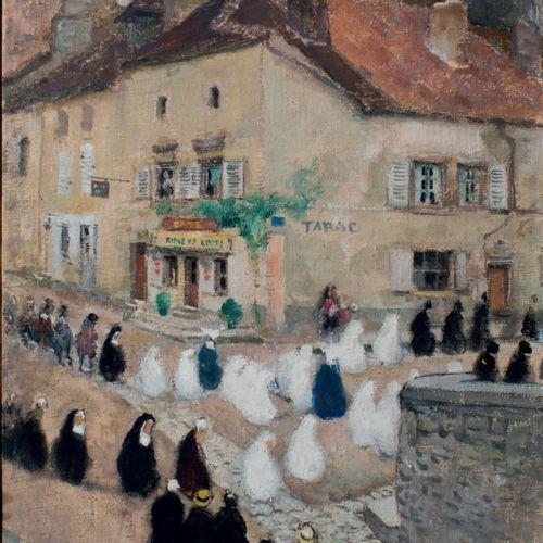Jules René HERVÉ , 1887 1981 Les communiantes, Langres Oil on canvas Signed lowe…