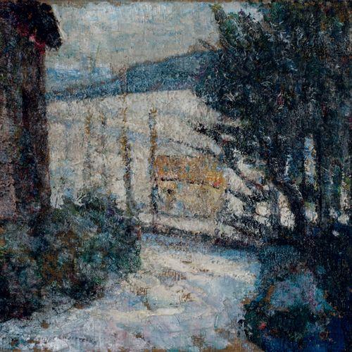 Victor CHARRETON, 1864 1936 Snowy landscape, Saint Amant Tallende Oil on canvas …