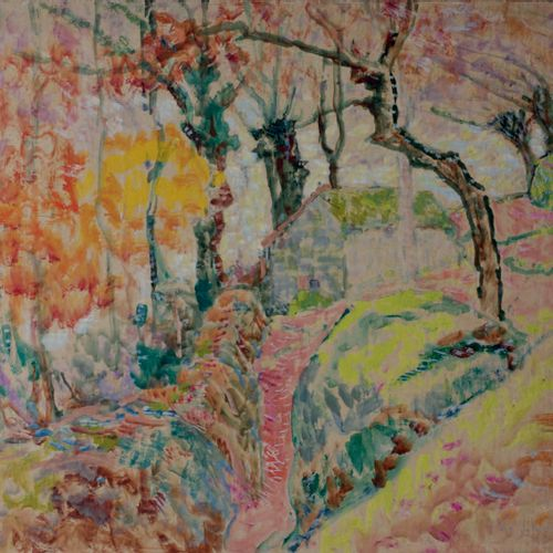 Victor CHARRETON, 1864 1936 Effet d'automne Painting on board Signed lower right…