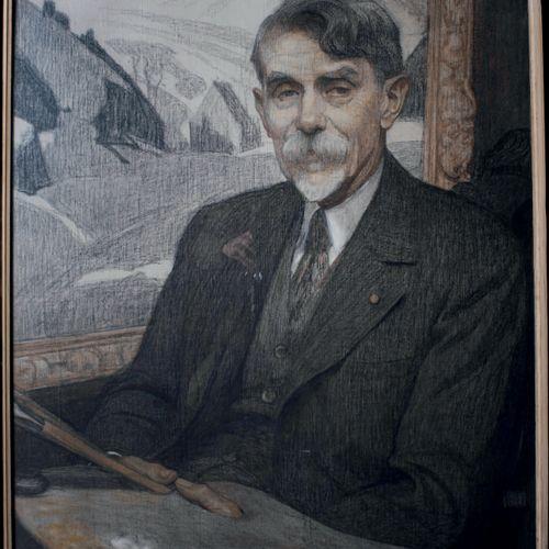 E. O. D. V. GUILLONNET, 1872 1967 Portrait of Victor Charreton, 1936 Colored pen…