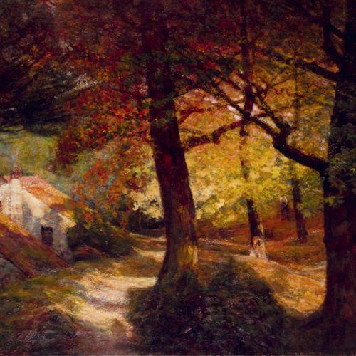 Victor CHARRETON, 1864 1936 Les ors de l'automne, Crouzols Oil on canvas (traces…