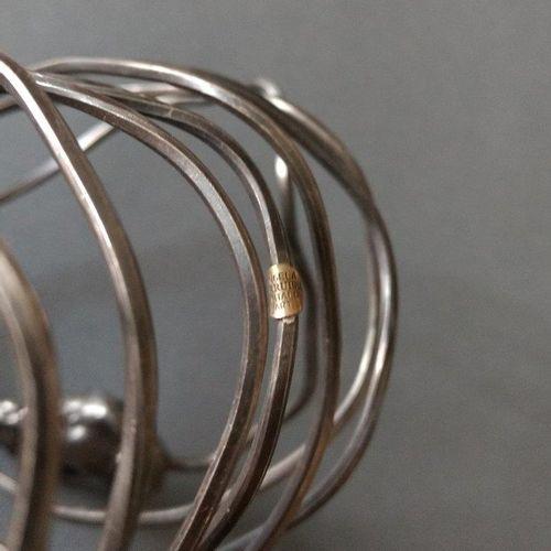 Angela Pintaldi Angela Pintaldi Bracelet Argent, améthyste et météorite L. 20 cm…
