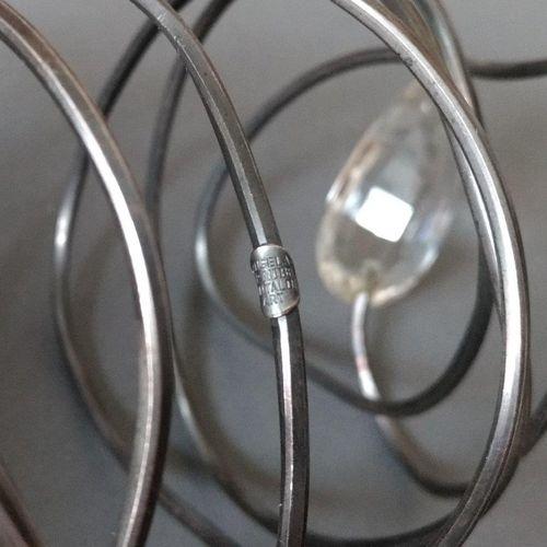 Angela Pintaldi Angela Pintaldi Bracelet Argent, topaze blanche et météorite L. …