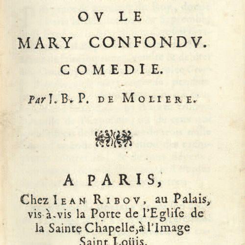 MOLIERE. George Dandin, ou Le Mary confondu. Paris, Jean Ribou, 1669. In 12, mar…
