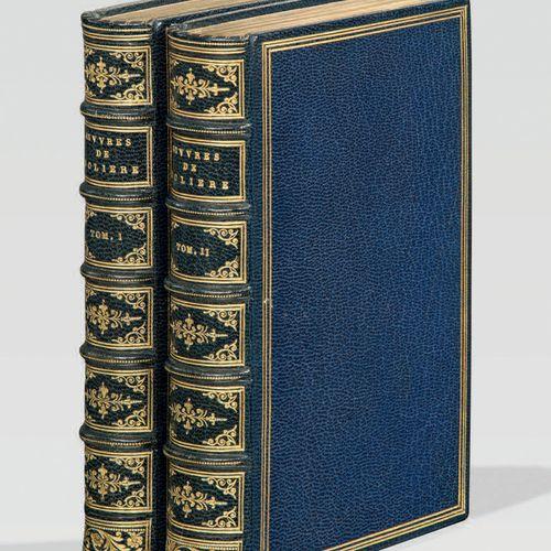 MOLIERE. Les Oeuvres. Paris, Claude Barbin, 1666. 2 volumes in 12, maroquin bleu…