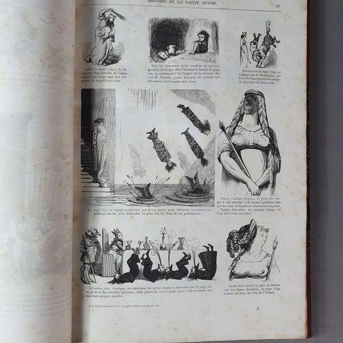 DORÉ (Gustave). Histoire pittoresque, dramatique et caricaturale de la sainte Ru…