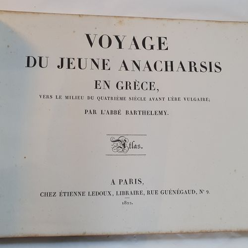 BARTHÉLEMY (Jean Jacques). Voyage of the young Anacharsis in Greece. New edition…