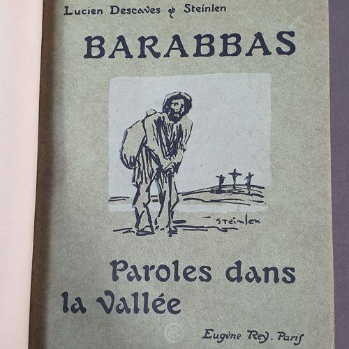 DESCAVES (Lucien). Barabbas. Paris, Rey, 1914. In 8 carré, demi veau blond avec …