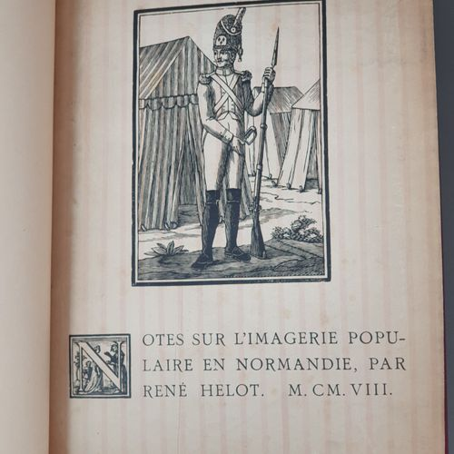 HELOT (René). Notes sur l imagerie populaire en Normandie. Lille, Imprimerie Lef…