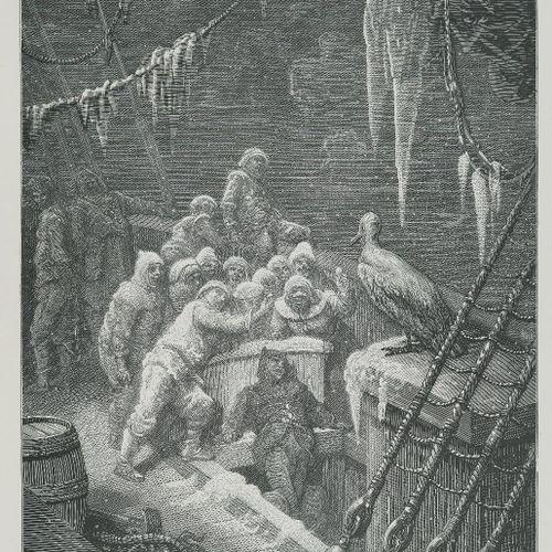COLERIDGE (Samuel). La Chanson du vieux marin. Paris, Hachette, 1877. In folio, …
