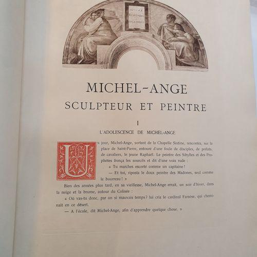 GEBHART (Émile). Michel Ange, sculpteur et peintre. Paris, Goupil & Cie, Manzi, …
