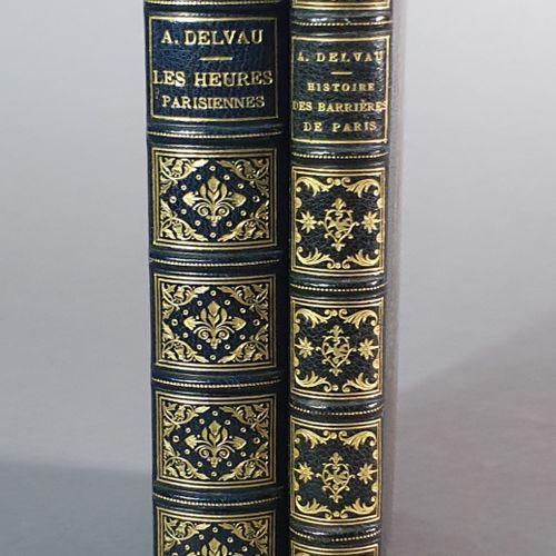 DELVAU (Alfred). Ensemble 2 ouvrages. Histoire anecdotique des barrières de Pari…