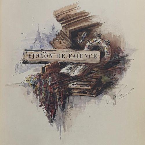 CHAMPFLEURY. Le Violon de faïence. Paris, L. Conquet, 1885. In 8, maroquin rouge…