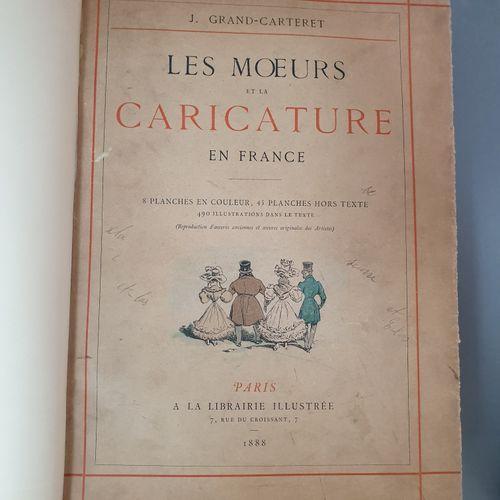 GRAND CARTERET. Ensemble 2 ouvrages sur la caricature. Les Mœurs de la caricatur…