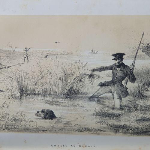 DEYEUX (Théophile). La Chassomanie. Paris, Delahays, 1856. In 8, bradel demi toi…